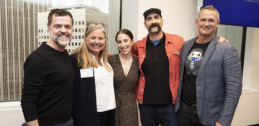 [From left to right]: Chris McCarthy, Amy O'Keefe, Lauren Steingold, Jason Kunesh, and Jim Wicks.
