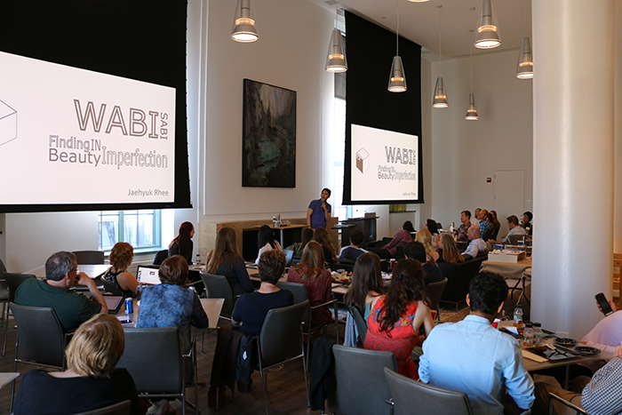 EDI students present their Wabi Sabi Boot Camp projects September 20 at McCormick's Cohen Commons to peers, faculty and alumni.
