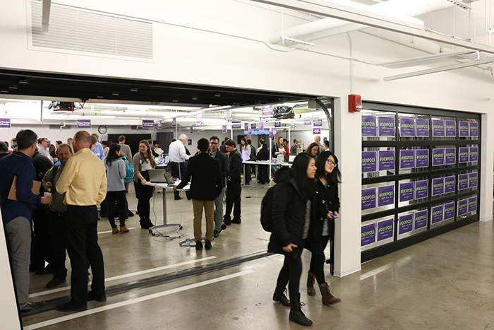 Northwestern's new incubator space, The Garage, where Design Expo was held this year.