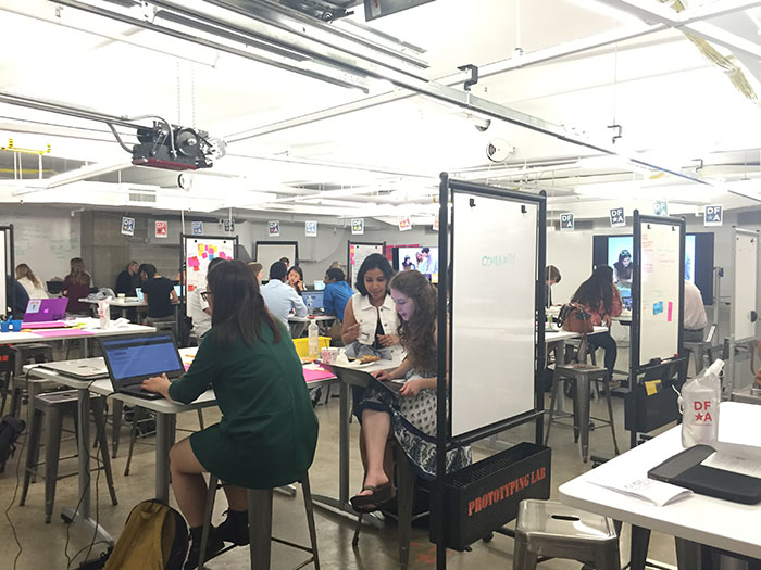 Students from all of DFA's 29 studios came together at Leadership Studio to design products and solutions to help people living with Down syndrome lead easier lives.
