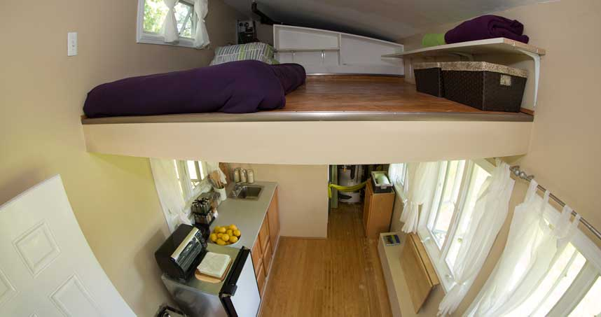 Tiny house interior.